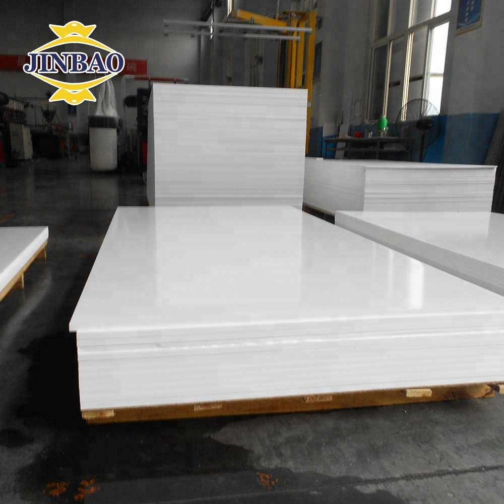 JINBAO factory white 1220x2440mm 4x8ft 4x6ft 0.65 0.6 0.55 1-30mm color <strong>PVC</strong> 0.5 density 3mm <strong>PVC</strong> foam boards