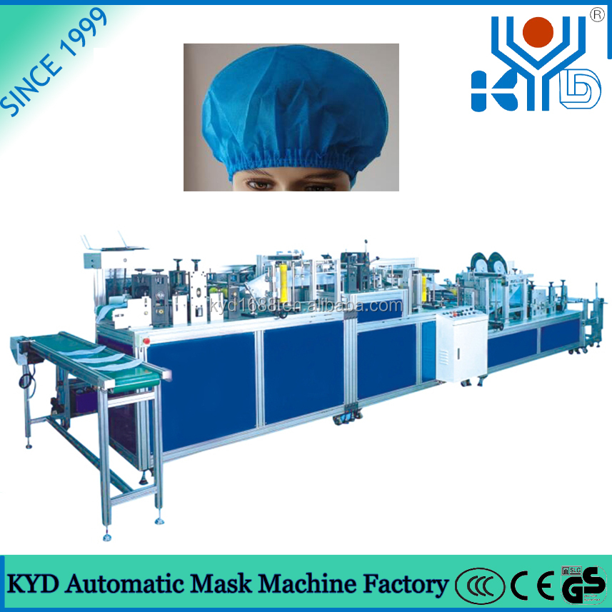 Guangdong Domgguan KYD Non woven Doctor Cap Disposable Surgical Cap Making Machine with Ultrasonic