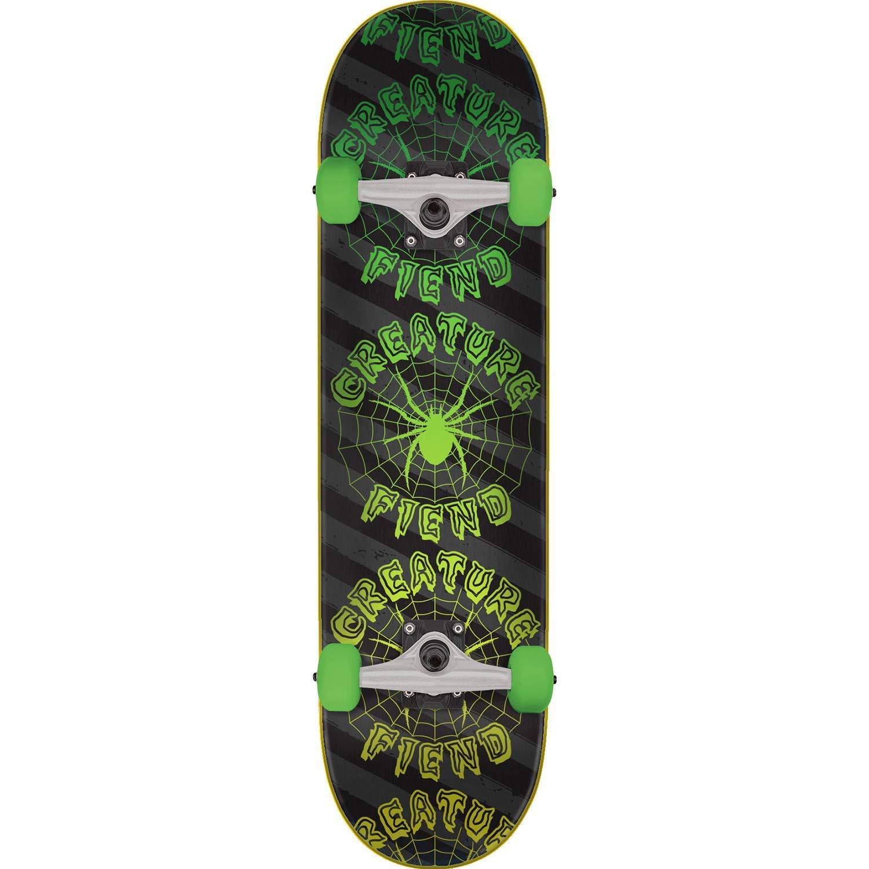 """Creature Skateboards Fiend Web Black/Green Complete Skateboard - 7.75"""" x 31.4"""""""