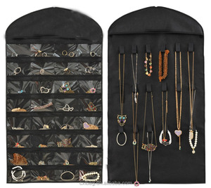 Large Jewelry Hanging Non-Woven Dual-Sided Organizer