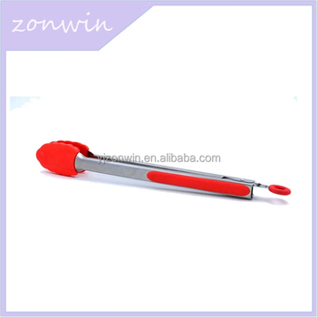 2016 Item E3-010 A wholesale food grade cheap price silicone food tong
