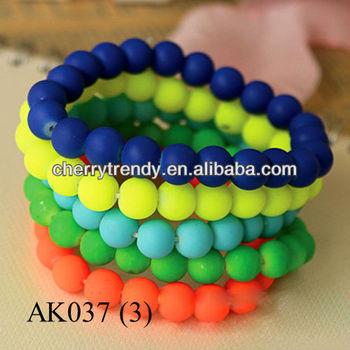 Arm Candy Bracelets Neon Color Bracelet Bead 2017
