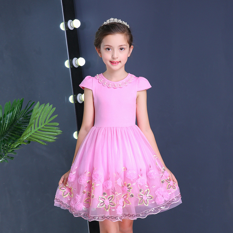 girls christmas party 2018 toddler princess wholesale summer dresses for kids UK USA France suits hot dress night girl