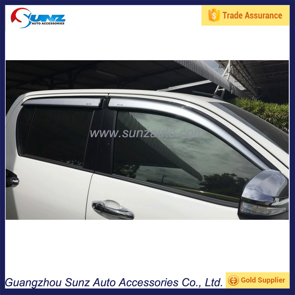 Toyota Hilux Revo 2015 New Truck Black-Silver Rain Shield Door Visor Vent 4x4 Car Accessories Trade Assurance