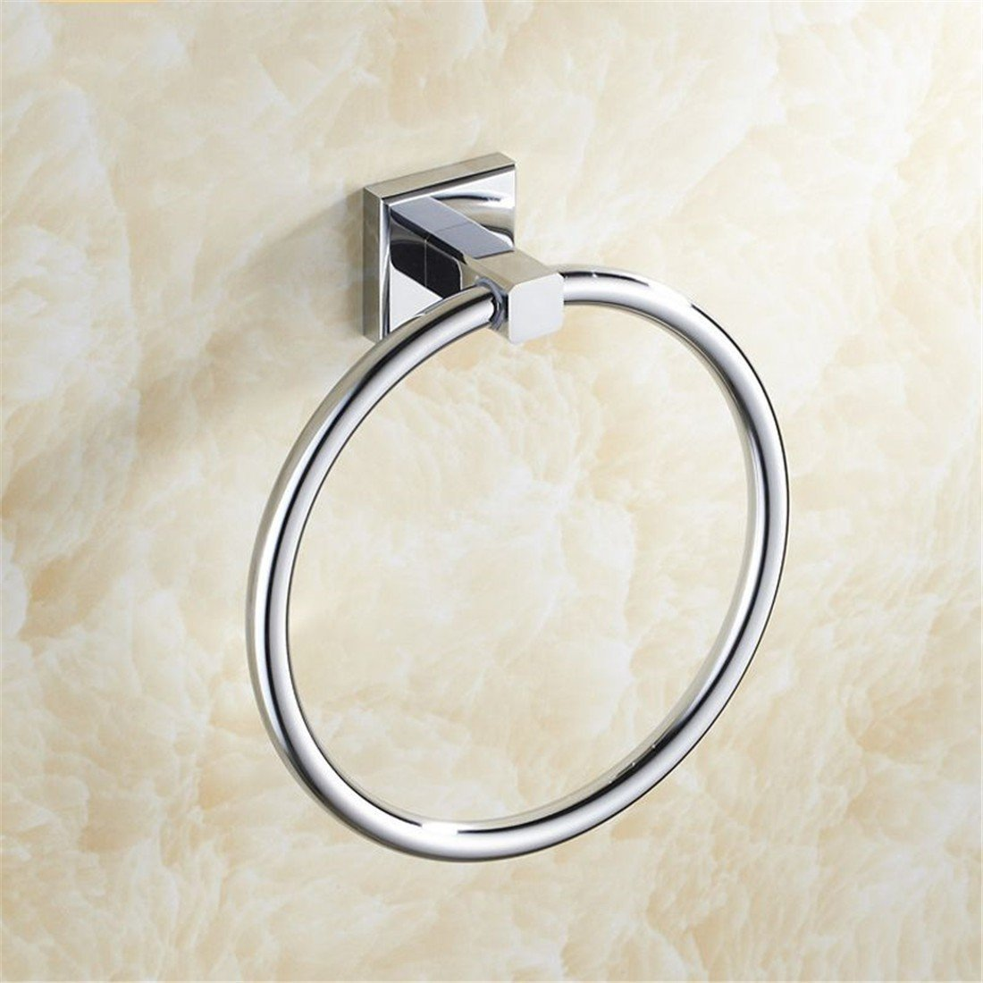LAONA A contemporary minimalist Brass chrome bathroom accessory kit bath towel rack Towel racks, Towel Ring