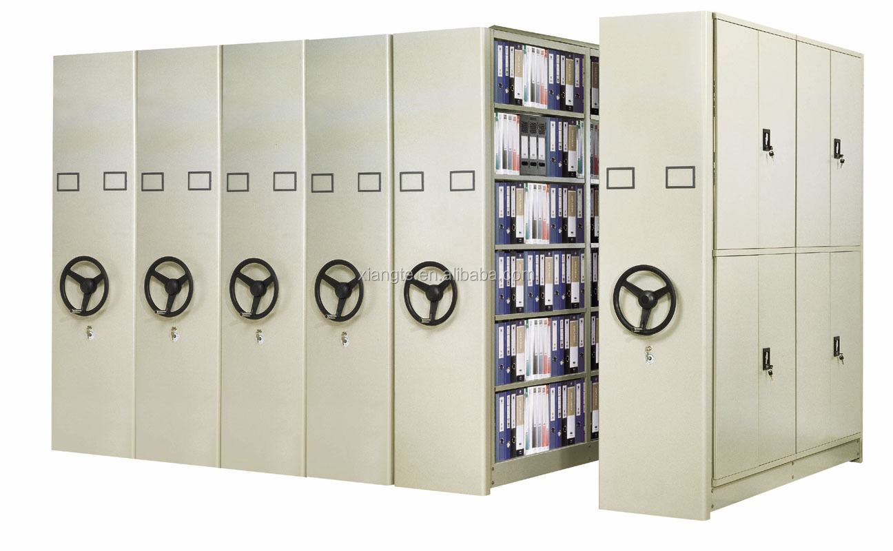 Steel Made Space Saving Mobile Lockers Vertical Movable