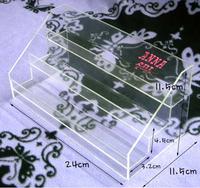 Acrylic Make up box acrylic cube baseball display case