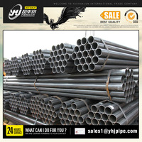 carbon black iron welded steel pipe prices