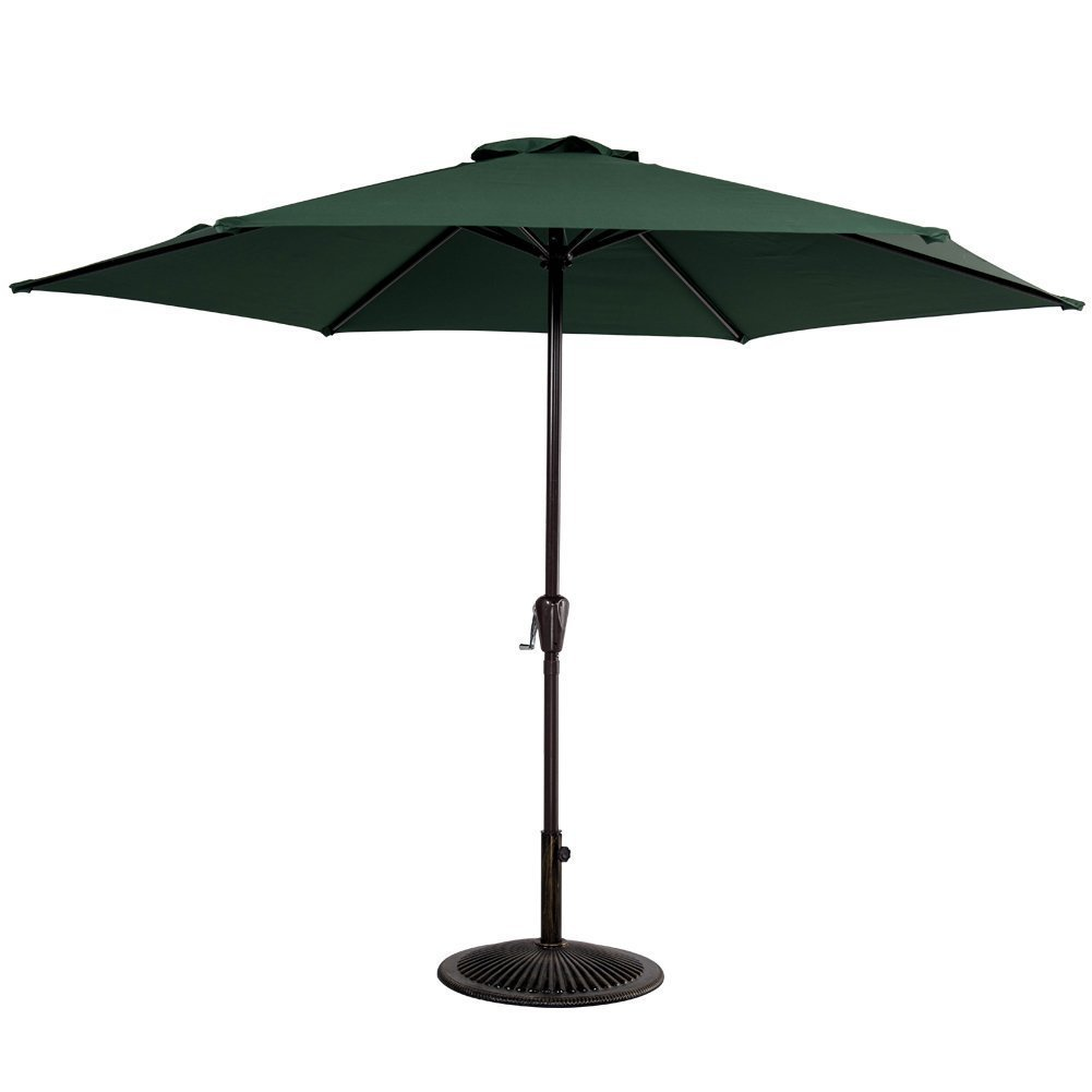 Get Quotations · Sundale Outdoor 10FT Patio Umbrella Patio Market Steel  With Crank Outdoor Yard Garden (Dark Green