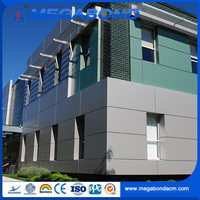 Megabond 4mm 5mm 6mm Aluminum ACP outdoor wall panel boards