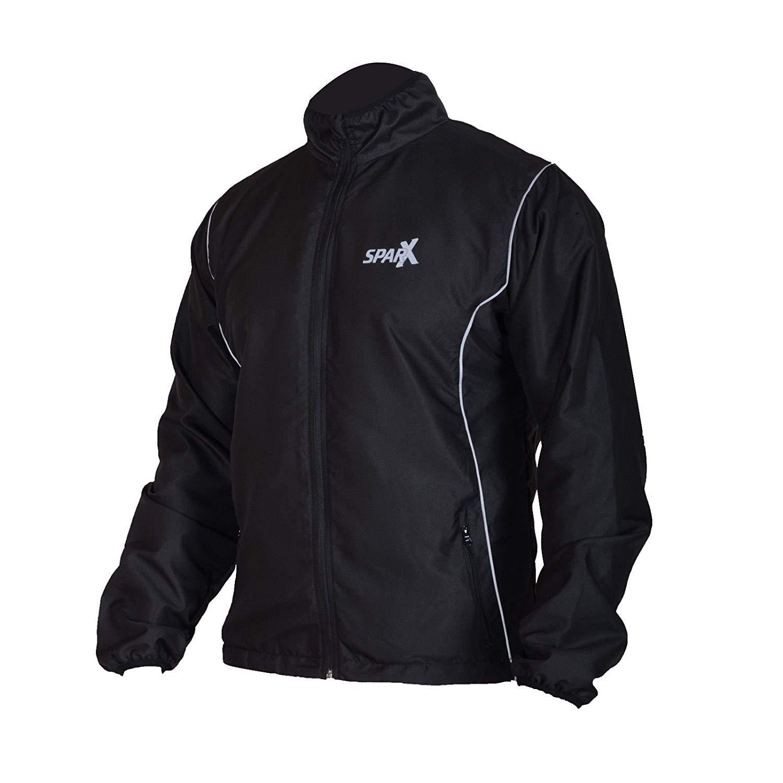 Get Quotations · Sparx Sports Running Jacket Track Windbreak Hiking Light  Weight Jacket Black 514799d36