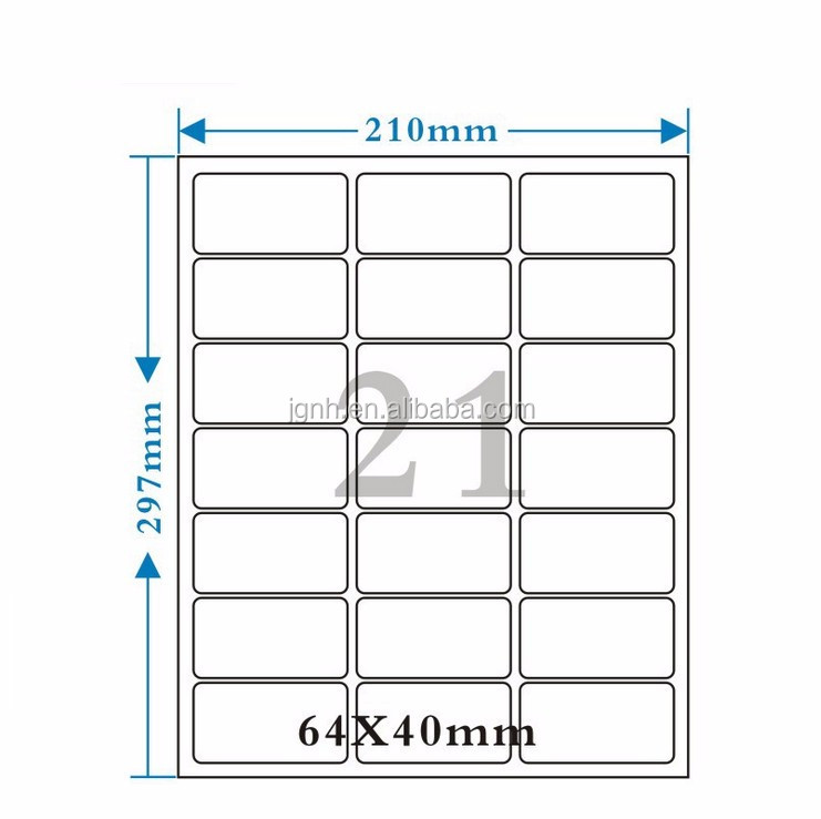 Printer A4 Blank Laser Sheet Address Sticker Label