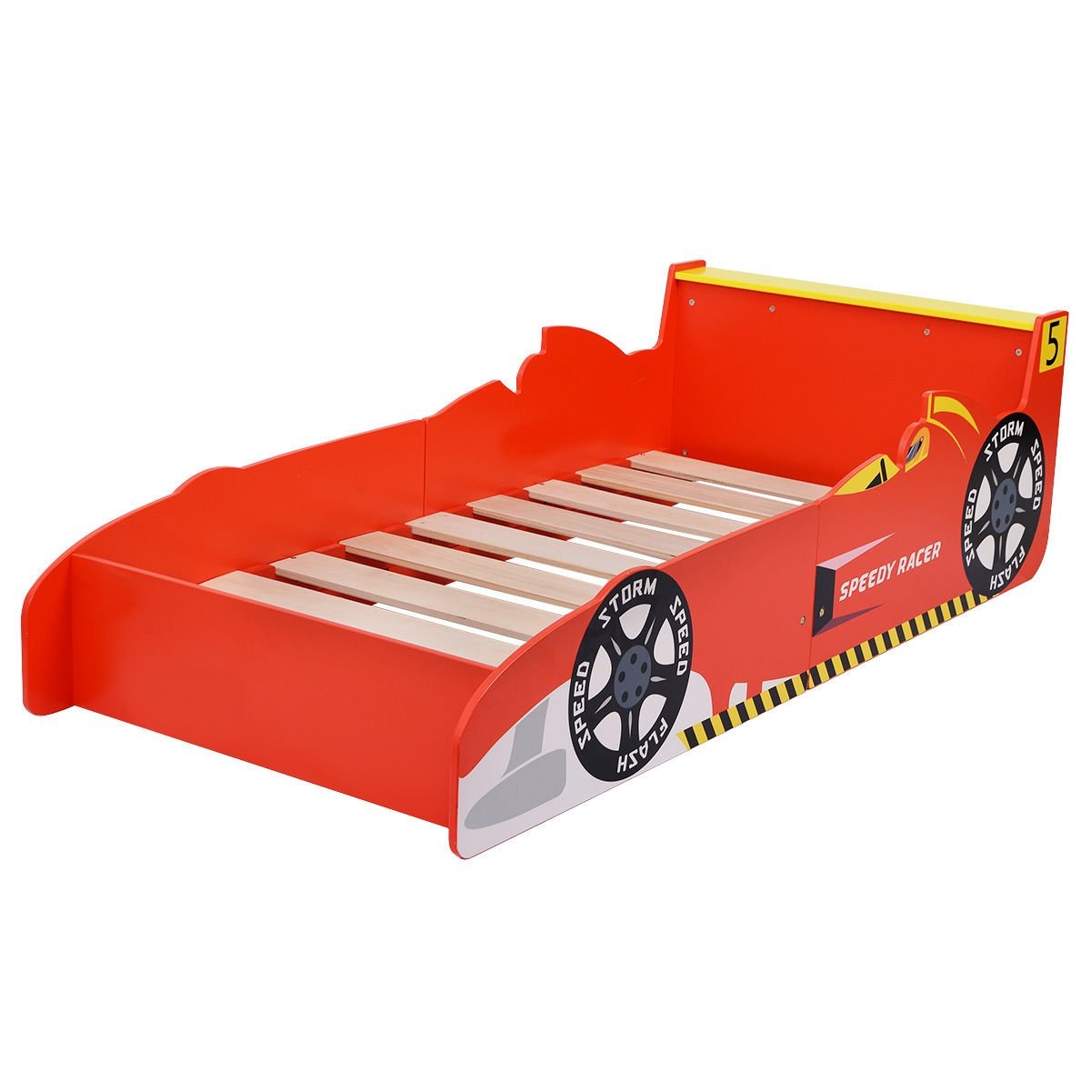 Get Quotations Costzon New Kids Race Car Bed Toddler Boys Child Furniture Bedroom Red Wooden