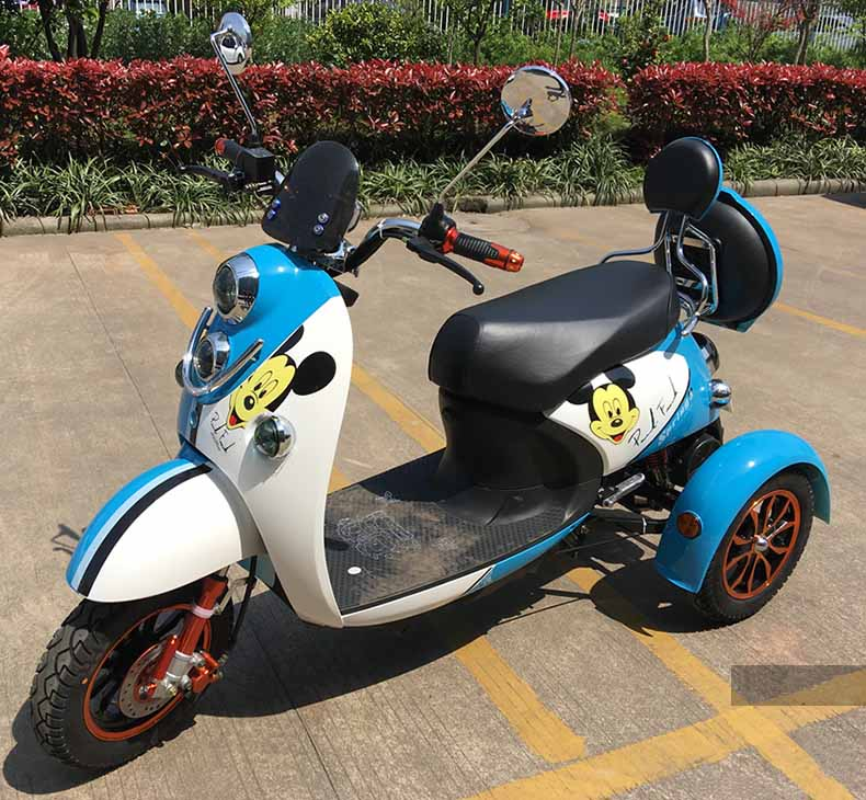 650W 72V long range Cheap electric 3 wheel scooter for adults