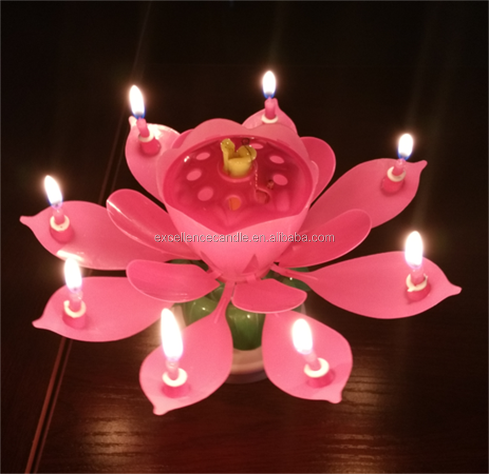 The most popular magic lotus cake birthday candle happy for Most popular candles