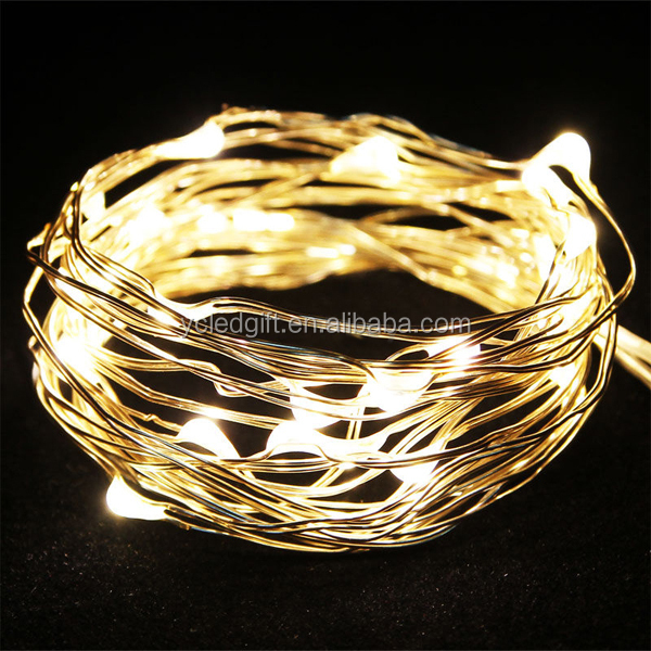 Ultra Thin Aa Battery Powered Micro Silver Copper Wire Led ...