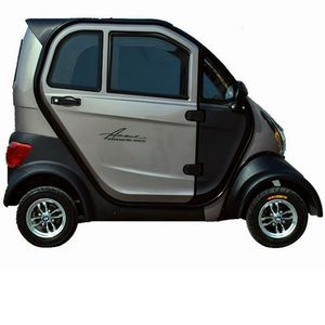 New energy mini electric car, green travel, safe and stable.