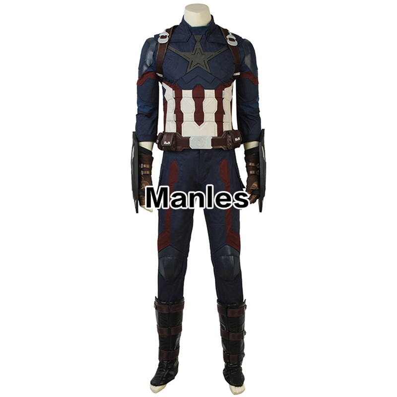 Prezzo di fabbrica Film The Avenger Costume Cosplay Captain America Costume per Adulti