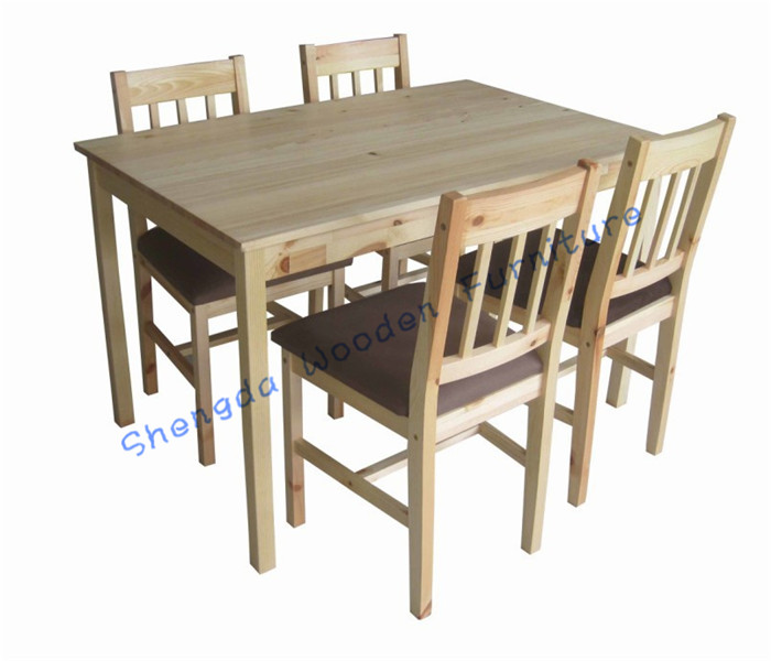 SD 2806 Pine Wood Dining Set /dining Table With 4 Chairs Diningroom Set Part 93
