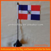 custom national dominican republic table flag