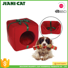 Import pet animal products space saving design Foldable christmas dog bed
