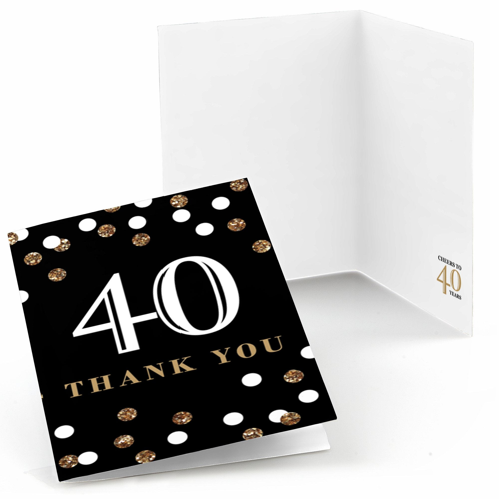 get quotations adult 40th birthday gold birthday party thank you cards 8 count - Cheap Birthday Cards