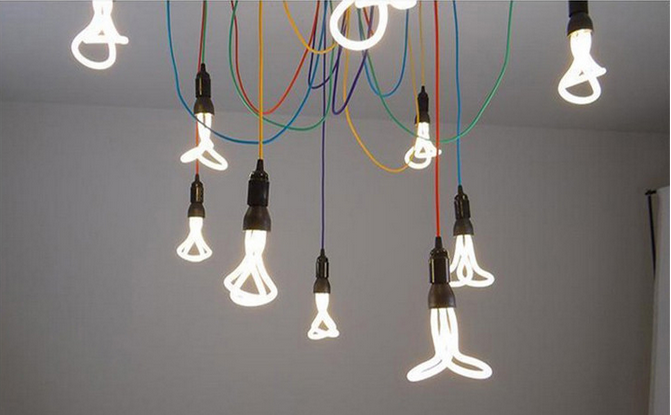 Moderne Lampen 8 : Moderne pendelleuchten energiesparlampen spinne anhänger lampen