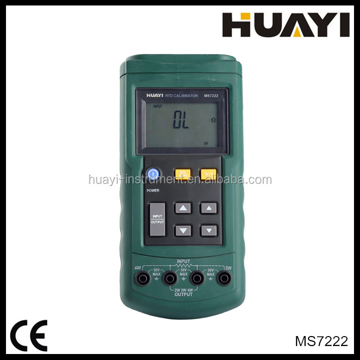 Portable RTD calibrator MS7222 with Operable of 7 types of RTD