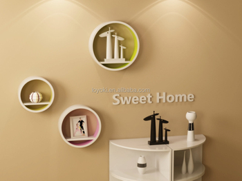 Decorare Mensole Legno : Forma circolare decorazione della parete mensola parete del cubo di