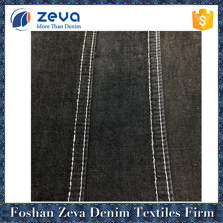 Guangdong providers high quality light blue in-stock denim shirt fabric