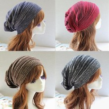 NB-282 Outdoor Knitted Wool Neutral Color Fold Cap Head Pile Heap Street Knitting Cap Ny Cap