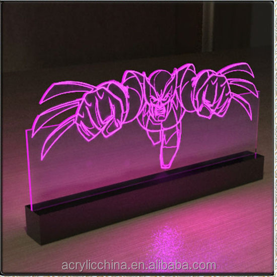 Acrylic sign holder led,bar led lighting acrylic sign holder
