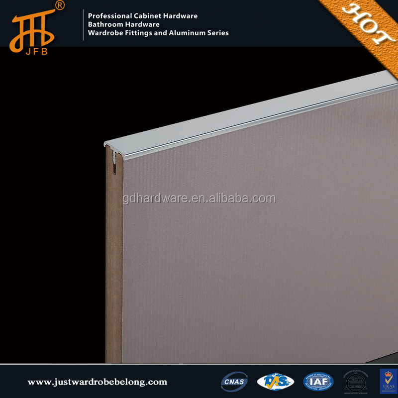Kitchen cabinet aluminum frame hidden edge <strong>handle</strong> & knob