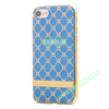 Small Cubes Cloth Pattern Electroplating TPU Protective Case for iPhone 7