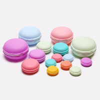 Mini Colorful Plastic Macaron Cake Shape Jewelry And Pill Storage Box