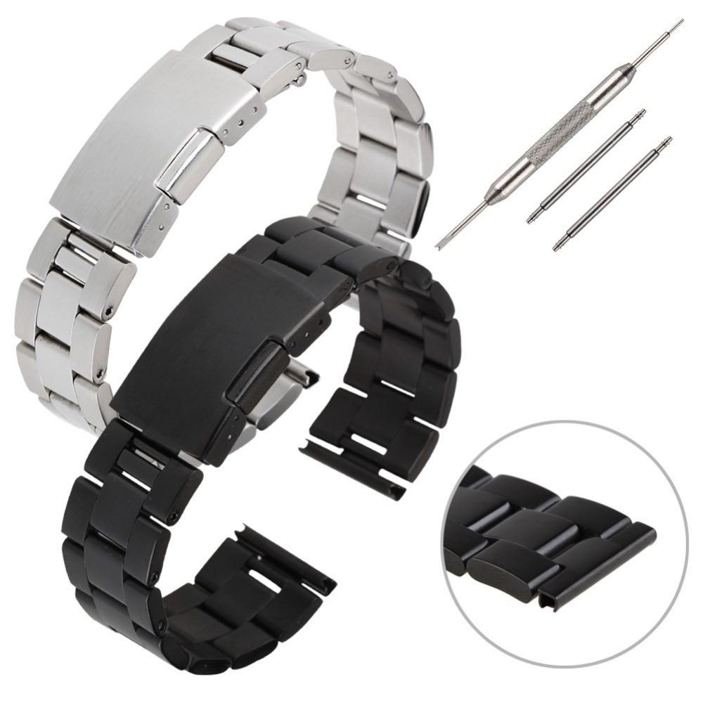 22 мм из нержавеющей стали часы полоса для Samsung передач 2 нео / для LG г + инструмент новое поступление