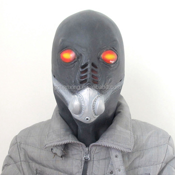 nice custom funny gas mask human head party latex rubber masks buy