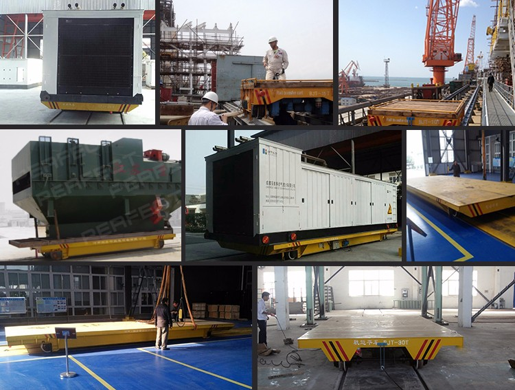 customized rail steerable transfer carts factory for workshop transport