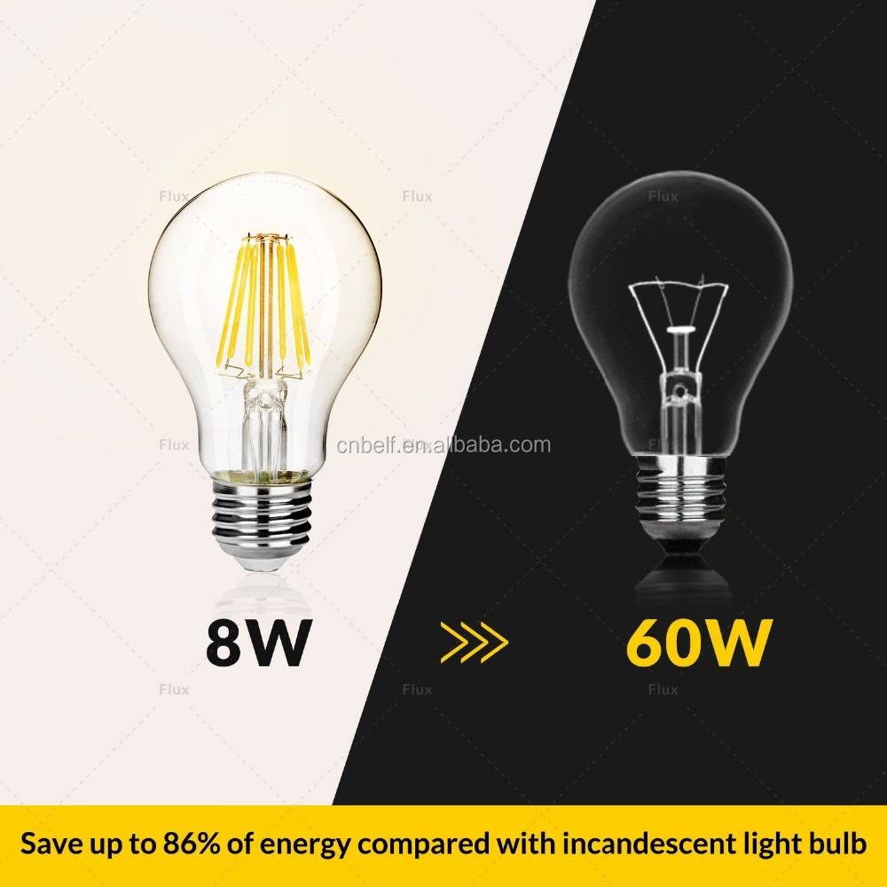 Edison Vintage 110v E26 E27 A19 A60 40w 60w Equivalent: China Supplier A60 Dimmable Led Bulb Light Classic Design