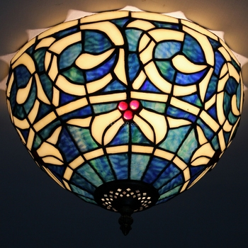 12inch morden European style of tiffany stained glass ceiling lamp for home decoration