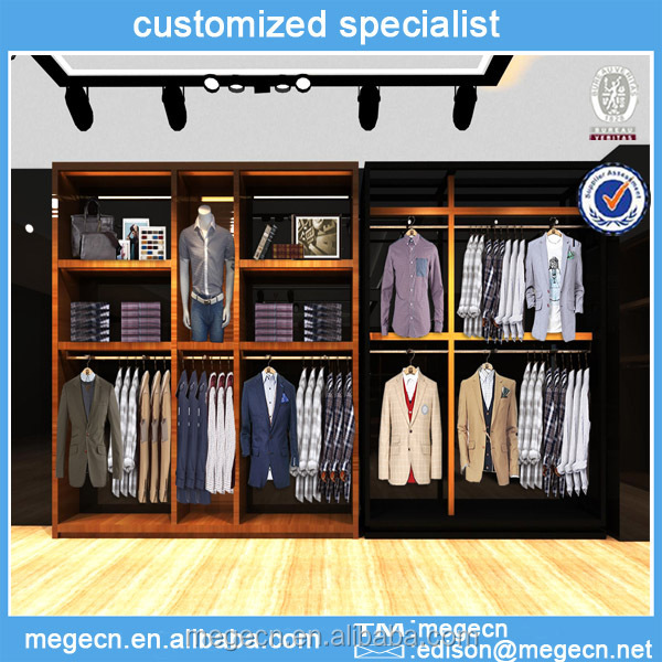 Customize Design Mdf Clothes Display Wall Cabinet