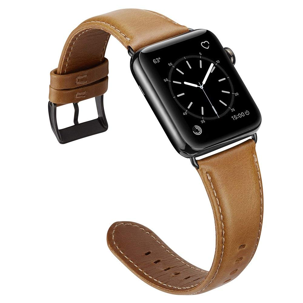 38 미리메터 42 미리메터 대 한 apple watch series 1 2 3 4 Genuine Leather Watch Band Strap