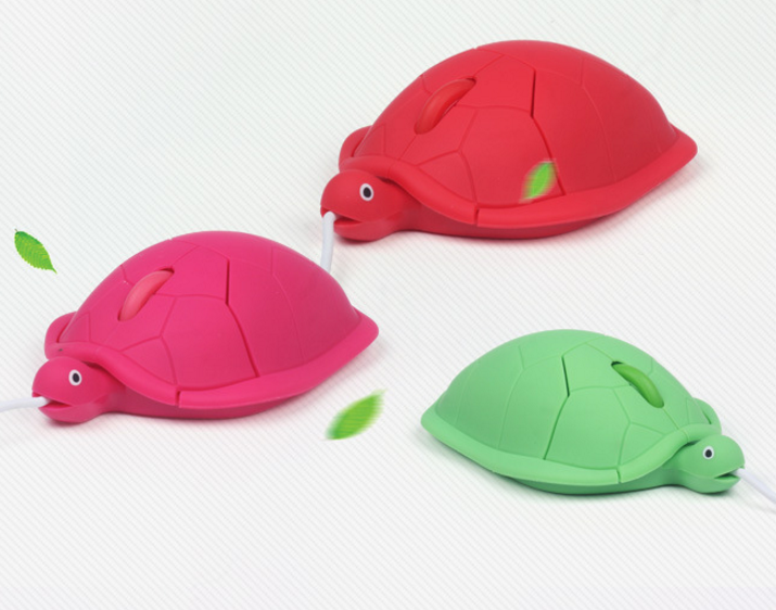 Customized design Funny Turtle Ergonomic Optical USB wired 3D computer mouse in different shapes