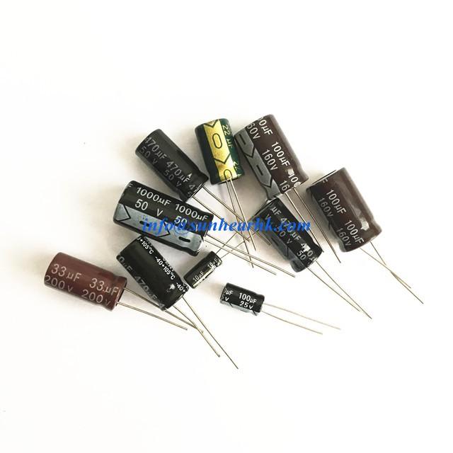 Electrolytic Radial 105 Deg 470uF//25V Pack 10