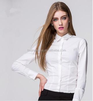 Custom Fashion Las Office Wear Women Formal Shirts Designs White Shirt Product