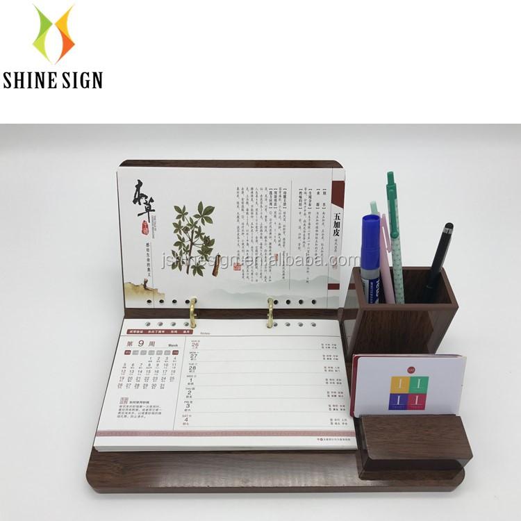 Neue Mode Tischkalender Freies Kundenspezifisches Design Und Logo Auf Kalender Kalender, Planer Und Karten
