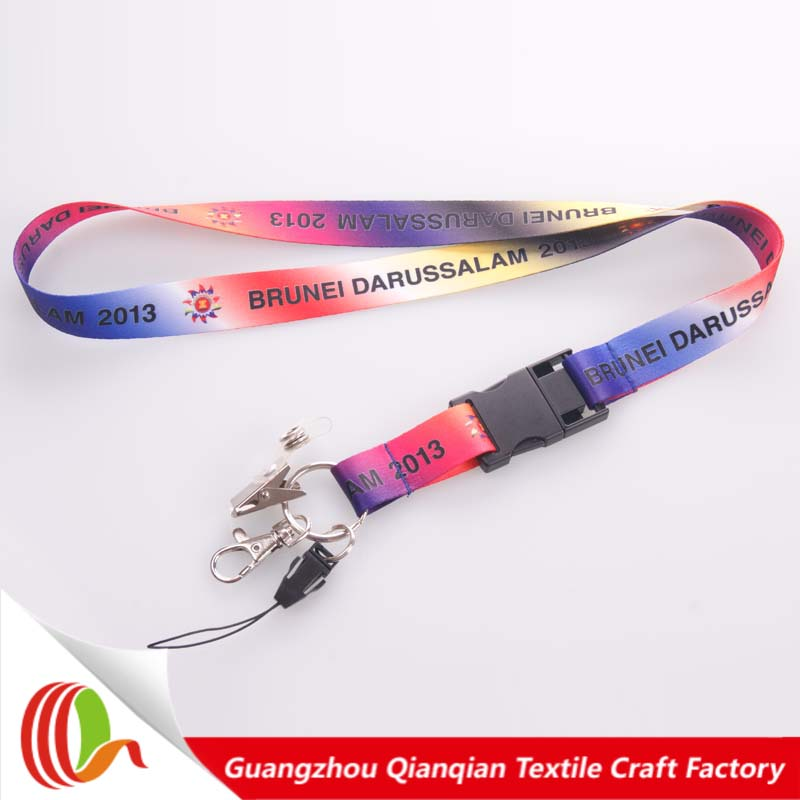 Promotional item personalized silkscreen printing usb flash drive lanyard