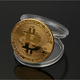 Hot sale cheap metal bitcoin copy coin replicas for collection