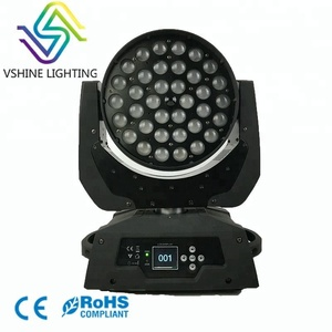36x10 led moving head wash zoom stage light for event
