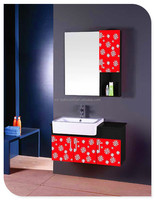 best selling style modern pvc / wood / steel wall-mounted lowes bathroom vanity cabinets for wholesale only